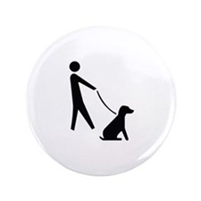 "Walk Dog Image 3.5"" Button (100 pack)"