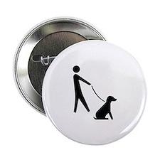 """Walk Dog Image 2.25"""" Button"""