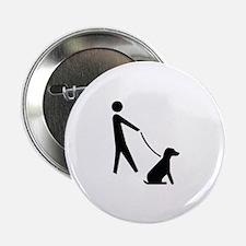 "Walk Dog Image 2.25"" Button (10 pack)"