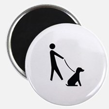 Walk Dog Image Magnet
