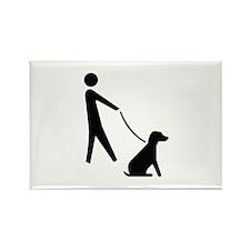 Walk Dog Image Rectangle Magnet