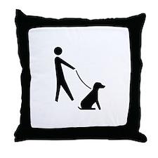 Walk Dog Image Throw Pillow