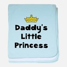 Cute New dad to daughters baby blanket
