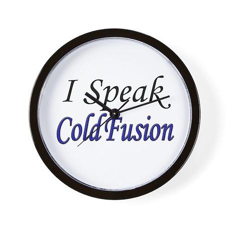 """I Speak Cold Fusion"" Wall Clock"