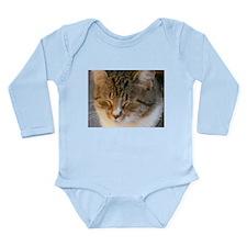 Tabby Cat Love Long Sleeve Infant Bodysuit