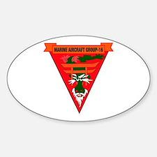 Marine Aircraft Group 16 Sticker (Oval)