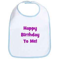 Happy Birthday To Me! Purple Bib