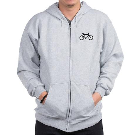 Bicycle Image Zip Hoodie
