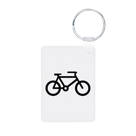 Bicycle Image Aluminum Photo Keychain