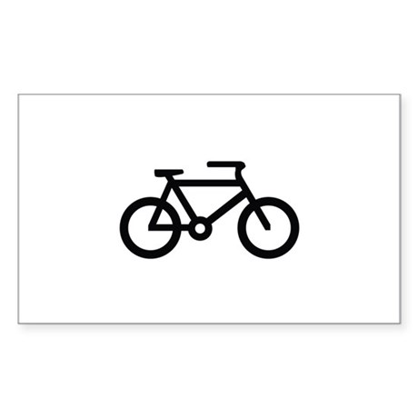 Bicycle Image Sticker (Rectangle)