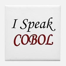"""I Speak COBOL"" Tile Coaster"