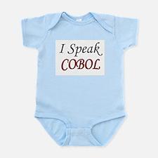 """I Speak COBOL"" Infant Creeper"