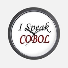 """I Speak COBOL"" Wall Clock"
