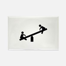 Playground Image Rectangle Magnet (10 pack)