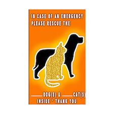 Cat & Dog Emergency Sticker Orange