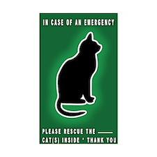 Cat Emergency Sticker Green