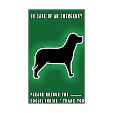 Dog Emergency Sticker Green