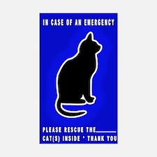 Cat Emergency Sticker Blue