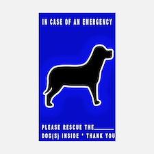 Dog Emergency Sticker Blue