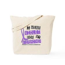 I Wear Violet 37 Hodgkin's Lymphoma Tote Bag