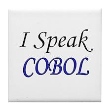"""I Speak COBOL"" Tile Coaster"
