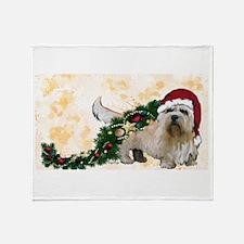 Cute Dandie dinmont terrier Throw Blanket