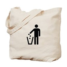 Litter Container Image Tote Bag