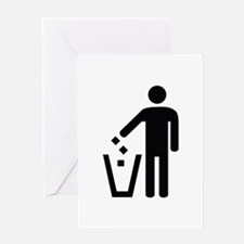 Litter Container Image Greeting Card