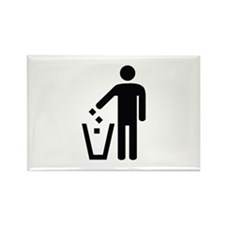 Litter Container Image Rectangle Magnet