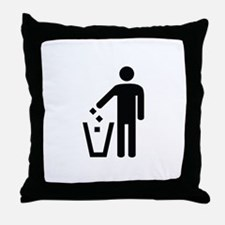 Litter Container Image Throw Pillow