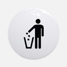 Litter Container Image Ornament (Round)