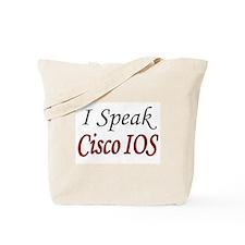 """""""I Speak Cisco IOS"""" Tote Bag"""
