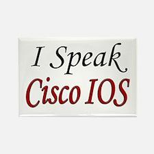 """""""I Speak Cisco IOS"""" Rectangle Magnet"""