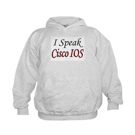 """I Speak Cisco IOS"" Kids Hoodie"