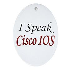 """I Speak Cisco IOS"" Oval Ornament"