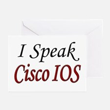 """I Speak Cisco IOS"" Greeting Cards (Pk of 10)"
