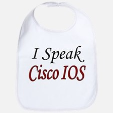 """I Speak Cisco IOS"" Bib"