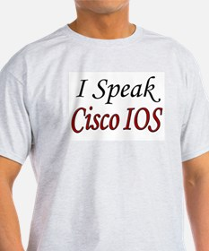 """I Speak Cisco IOS"" Ash Grey T-Shirt"