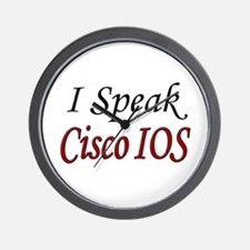 """I Speak Cisco IOS"" Wall Clock"