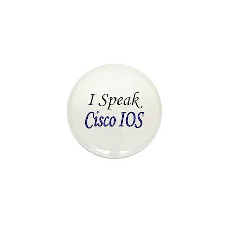 """""""I Speak Cisco IOS"""" Mini Button (100 pack)"""