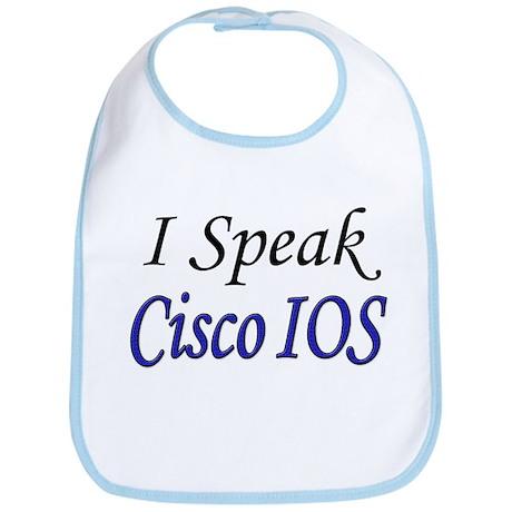"""""""I Speak Cisco IOS"""" Bib"""