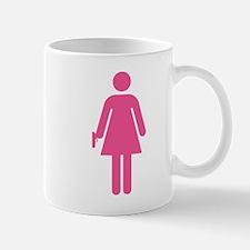 Woman w/ Gun Icon Mug