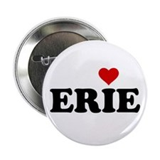 "Erie with Heart 2.25"" Button"