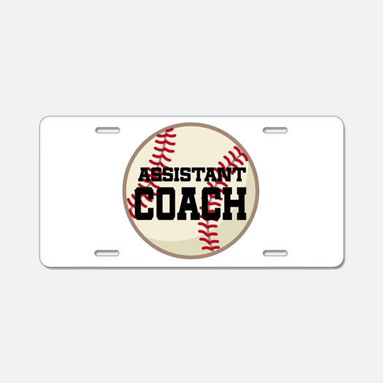 Baseball Assistant Coach Aluminum License Plate