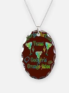 Margarita Cowgirls Orange Juice Necklace