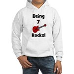 Being 7 Rocks! Guitar Hooded Sweatshirt