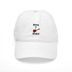 Being 7 Rocks! Guitar Baseball Cap