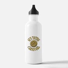 Gun Toting Carnivore Shell Ca Water Bottle