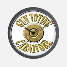 Gun Toting Carnivore Shell Ca Wall Clock