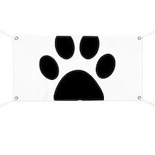 Paw Print Icon Banner